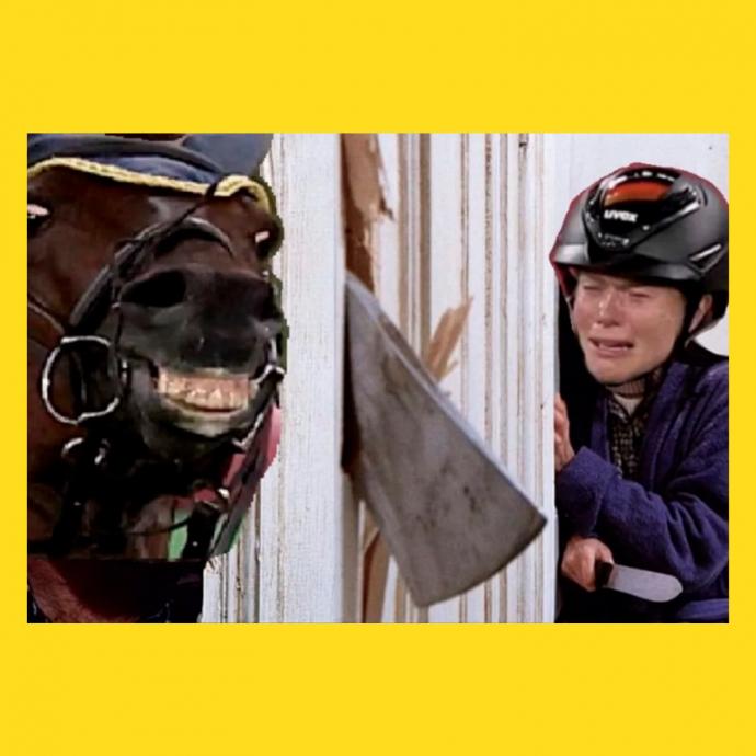 мем - олимпиада - конь и девушка - лектор