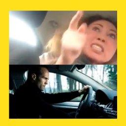 мем - девушка в такси и стетхем