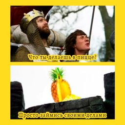 мем - что ананас делает в пицце