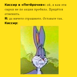 новый мем с кроликом