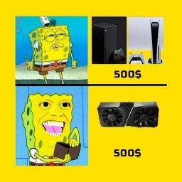 мем - PlayStation или новая видеокарта