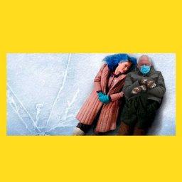 мем - Берни Сандерс -  на льду