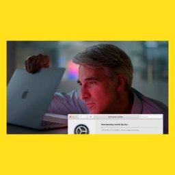 мем - Крейг Федериги смотрит в MacBook - долгая загрузка обновление