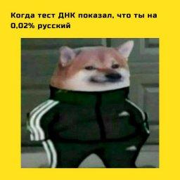 мем - когда узнал что ты немного русский