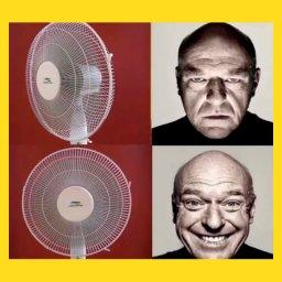 мем - Дин Норрис улыбается и хмурится - когда вентилятор поворачивается к тебе