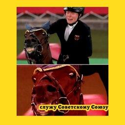 мем - олимпиада - конь и девушка - Советскому Союзу