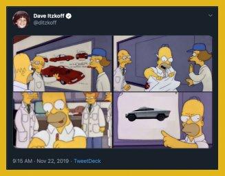 Гомер Симпсон взрывается мемы про Кибертрак