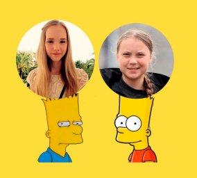 Анти-Гретта: Злой и обычный Барт Симпсон