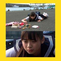 мем - японская школьница упала - шаблон
