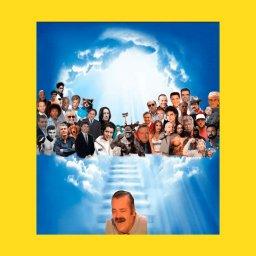 мем - испанский хохотун - к другим мемам на небо