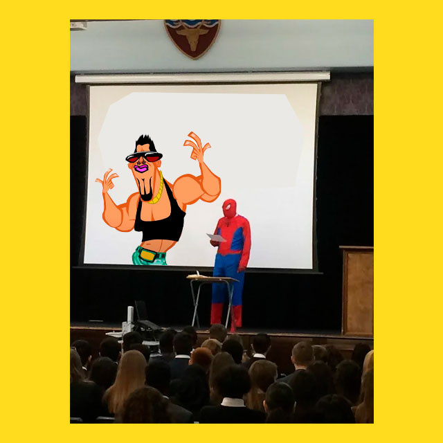 мем - Mr. Douchebag - два супергероя