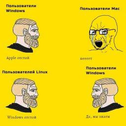 мем - пользователя Mac, Windows и Linux