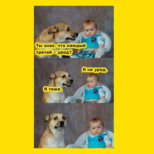 мем ребенок и собака каждый третий