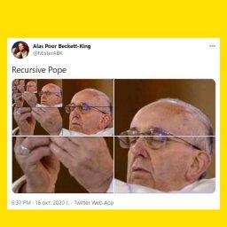 мем - папа римский в рекурсии