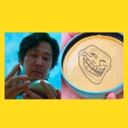 мем - игра в кальмара - конфеты