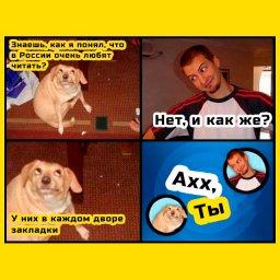 мем - ох, ты - в России очень любят читать