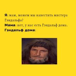 мем - советски властелин колец - Гендальф дома