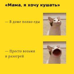 кот широко открывает рот мем