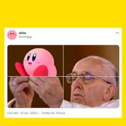 мем - папа римский и милота