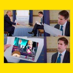 Дональд Трамп показывают кадры из Рик и морти