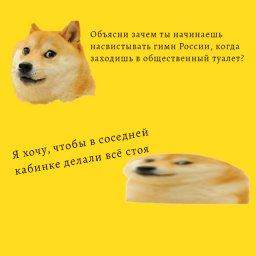 Мем про Куоге - Зачем в туалете исполнять гимн России
