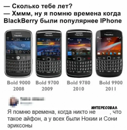Про телефоны BlackBerry