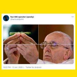мем - папа римский сворачивает